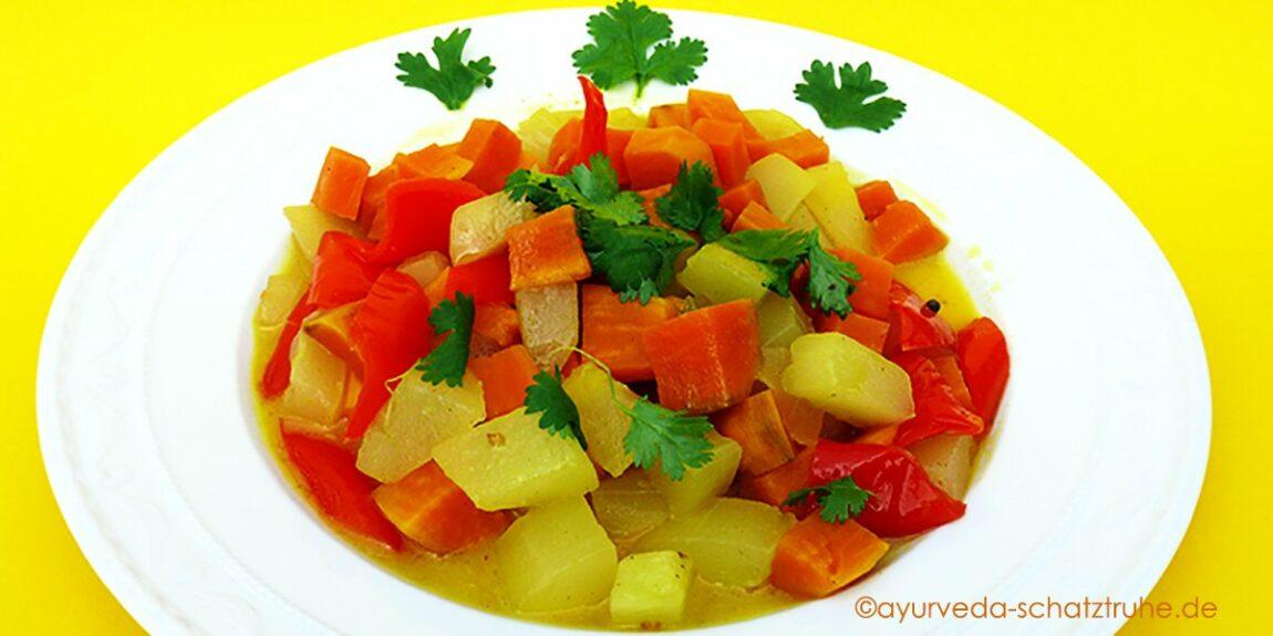 Schmorgurken Curry