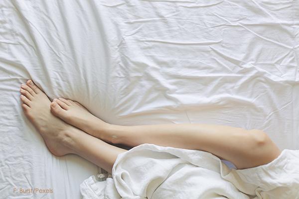 Guter Schlaf heiße Füße