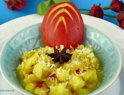 Apfelchutney nach einem ayurvedichen Rezept