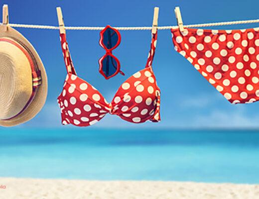 Bikini an Wäscheleine, abnehmen mit Ayurveda