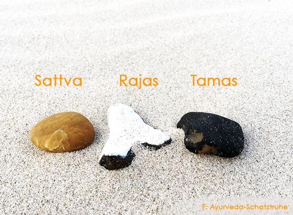 steine als symbol fuer sattva rajas tams die drei gunas