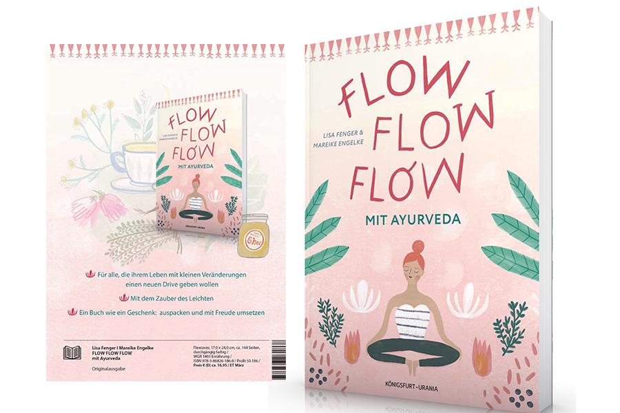 Buch Flow flow flow mit Ayurveda, Titelseite und Erklärung